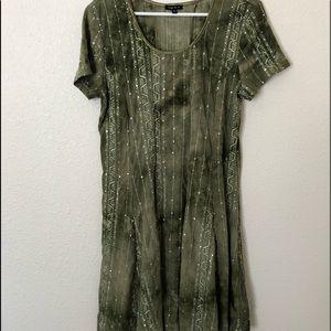 Sami & Jo Womens Dress Tie-Dye Green Size XL